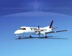 3D model SAAB SF340 Air France
