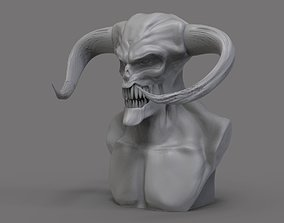 creature 3D printable model Demon Bust