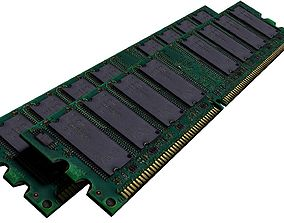 Ram Memory Card Computer Part Tech Machine 3D model 3