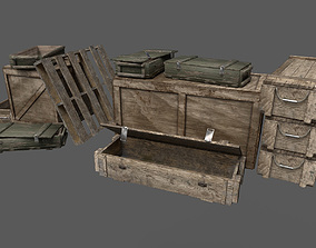 3D model Military Crates Pack