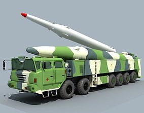 3D model China DF-26 ballistic missile