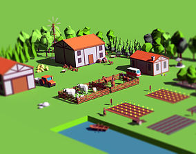 3D asset Simple Poly Farm