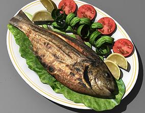 3D Food Fish