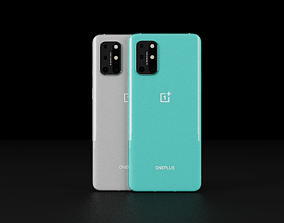 OnePlus 8T In Official Colors 3D asset