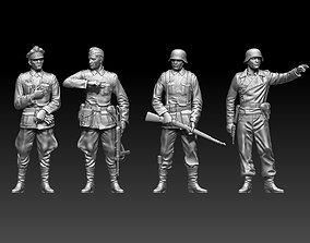 German soldiers k98 3D printable model