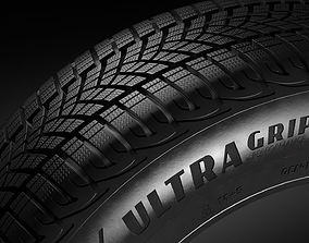R18 Goodyear UltraGrip SUV tire 3D model detailed