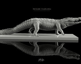 Nile Crocodile 3D Model LowPoly SubD HighPoly game-ready