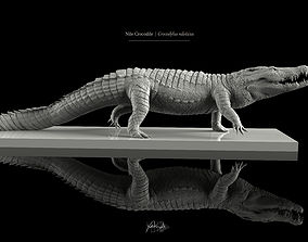 Nile Crocodile 3D Model LowPoly SubD HighPoly game-ready
