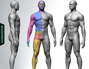Muscular Male Basemesh 3D