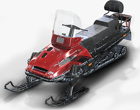3D model SnowMobile Low Poly