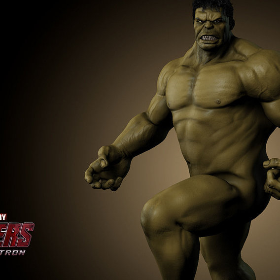 The Hulk Nude Pose