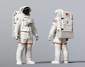 3D EMU SPACE SUIT