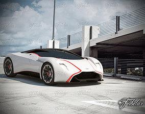 Aston Martin dp100 and Environment 3D
