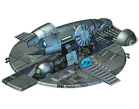 Spaceship - Ground Fortress 09 3D model