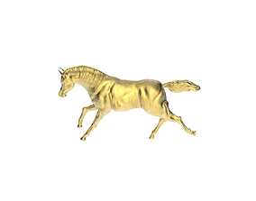 3D printable model Arabic Horse in galloping