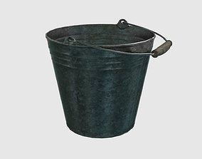 3D asset Low Poly Steel Bucket