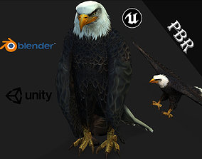 animated Eagle 3D model for unity 3D Blender and
