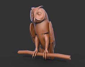 Owl 3D model nature