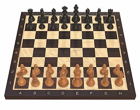 3D model Chess board game pieces