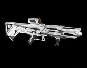Sci-fi concept Rifle 3D