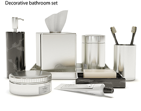 3D model Decorative bathroom set tube