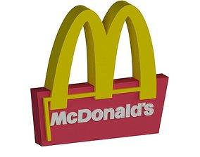 3D model McDonalds Logo and McDonalds Sign