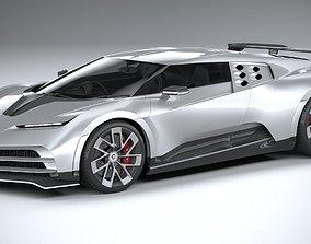 3D model LowPoly Bugatti Centodieci 2020