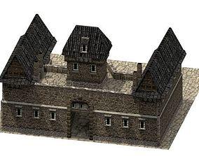 3D model Stone Barracks