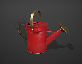Red Watering Can 3D model
