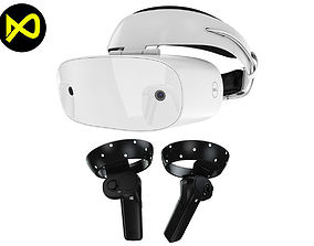 3D model The Dell Visor Set Headset And Controllers