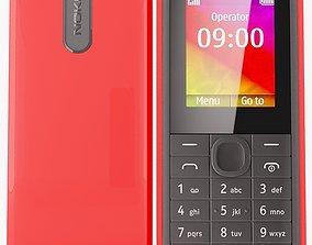 3D model Nokia 106 Red