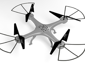 drone realtime Simple quadrocopter 3D model