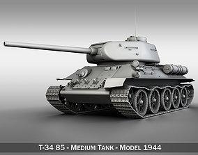 T-34 85 - Soviet medium tank 3D