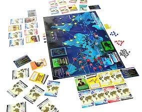 Pandemic board game 3D model