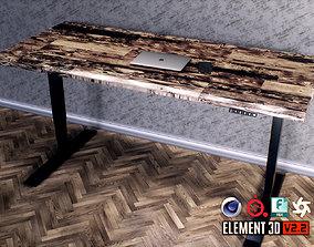 3D asset low-poly Standing Desk