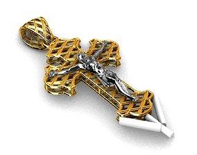 3D print model Cross jesus christ pendant religiuos 2