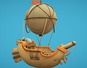 3D asset Balloon Boat