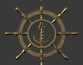 Anchor wheel pendant 3D printable model