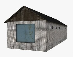 Brick Hangar Low Poly 3D asset realtime
