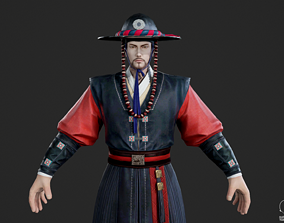 Ancient Korean Korean traditional costume Korean 3D model