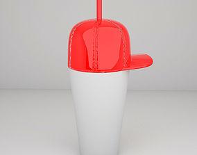Bottle with cap 3D print model
