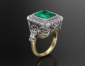 Engagement Luxury Ring With Diamonds 3D printable model