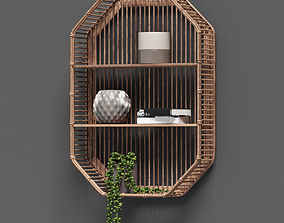 3D Bamboo Shelf Unit