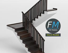 Half landing staircase 3D