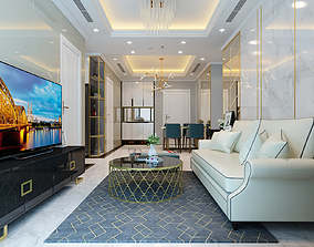 3D Apartment livingroom luxury television-stand