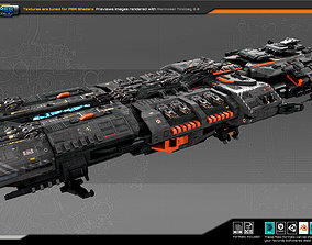 3D asset game-ready SF Federation Dreadnought GB6