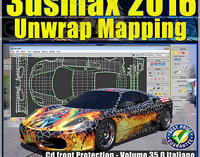 035 3ds max 2016 Unwrap Mapping vol 35 cd front