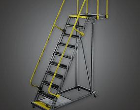 Standing Rail Ladder HLW - PBR Game Ready 3D asset