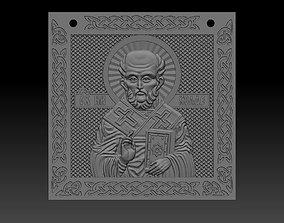 Pendant of St Nicholas the model for 3D