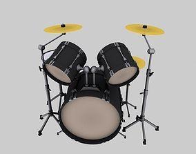 3D asset VR / AR ready drum kit